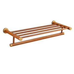 Family Hotel High Quality Ecological Wood Waterproof Towel Rack Towel Bar