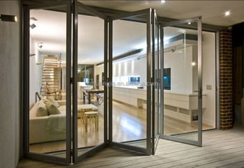 Outdoor Sliding Folding Door/balcony Aluminum Frame Glass Panel Door ...