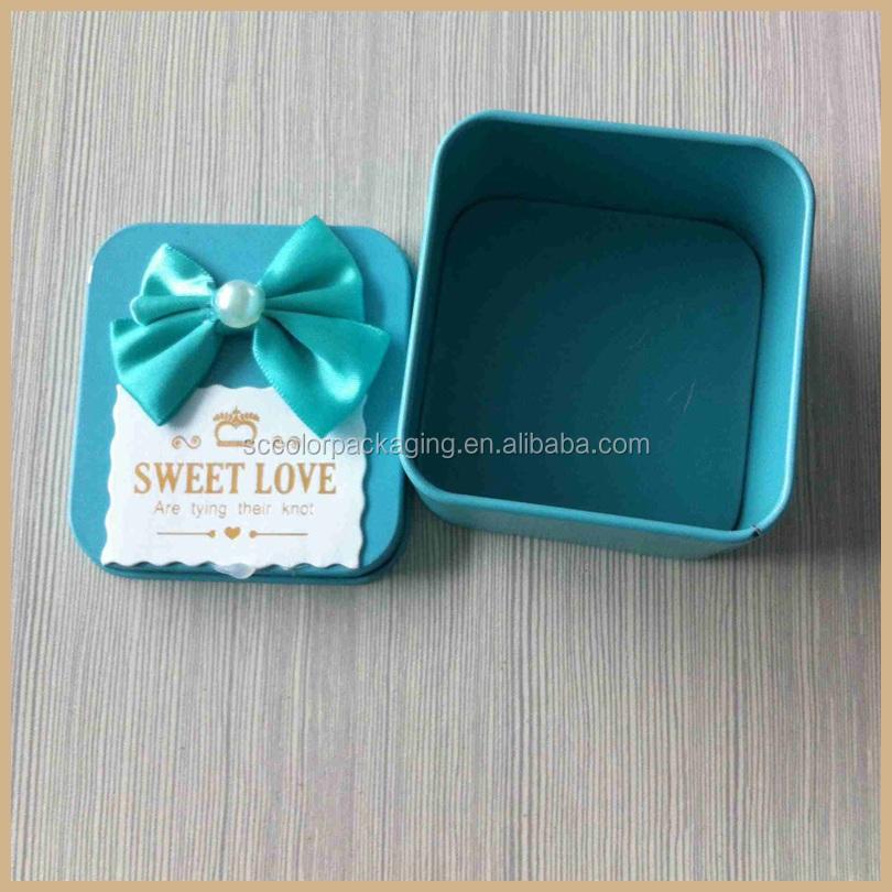 100% Handmade Lated Technology Candy Box Wedding Fancy Tin Box ...