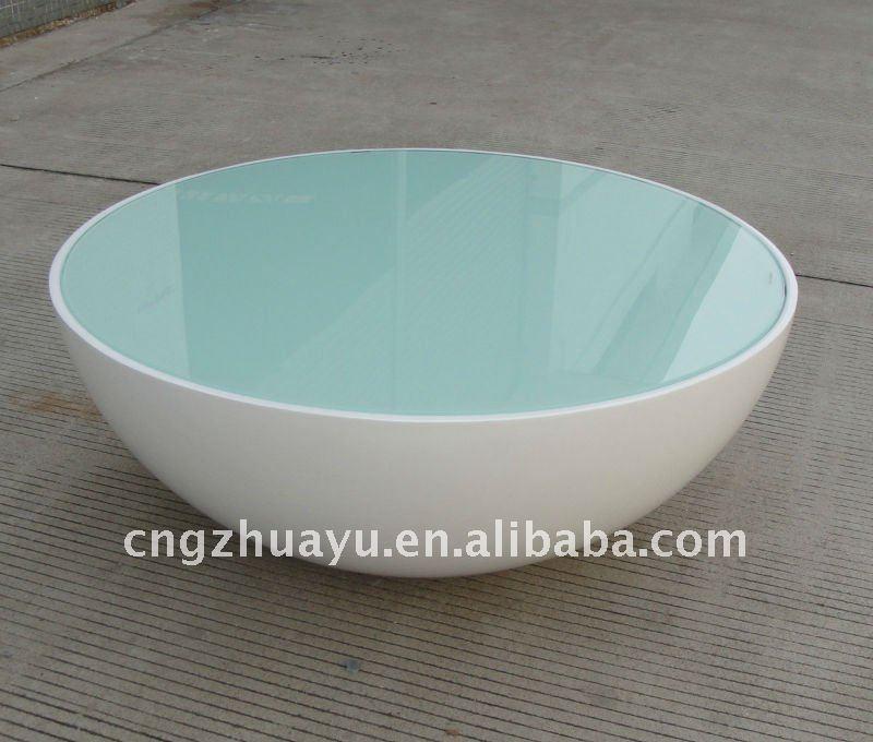 Half Ball Gl Top Coffee Table Hy B015