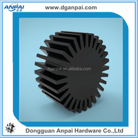 dongguan best service custom aluminum extruded led heat sink,high quality cold forged led heat sink