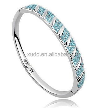free shipping cheap buckingham jewellery bangle crystal bangle 5 colors in stock