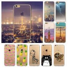 Merry Christmas! For iPhone 6 4.7Inch UltraThin 0.5mm Soft TPU Animal Clear Painted Mobile Phone Accessories Back Skin Case