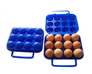 Outdoor Eggs Camping Hiking Folding Plastic Outdoor Portable Egg Keeper Storage Box
