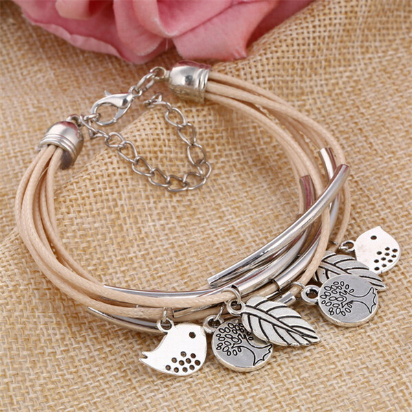 Women Stainless Steel charms Bangles vintage simple style garment accessories bracelets