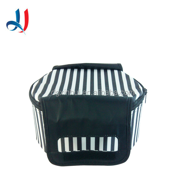 2016 Top Quality Striped Polyester Insulation Bag Aluminium Foil Portable Wine Meal Cooler bag for Travel, Daily Use