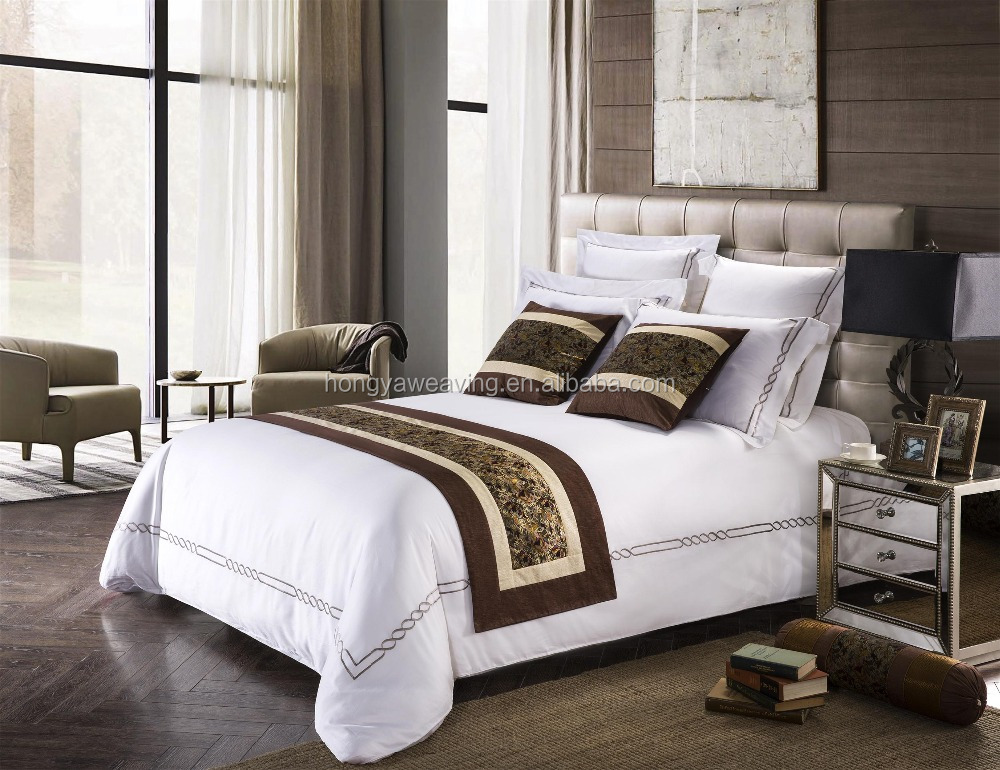 Luxury customized hotel bed runner bed throw for hotel and home used