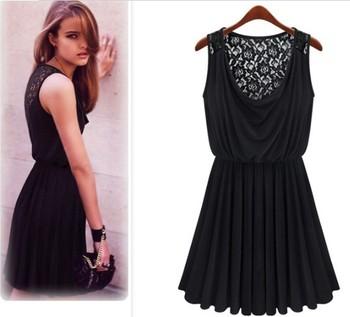 new western women clothes sleeveless sundress black elegant lace fashion dress buy fashion dress fashion women dress new fashion dresses 2014 women