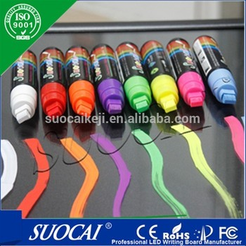 promotional colorful erasable neon light board chalk markers pen