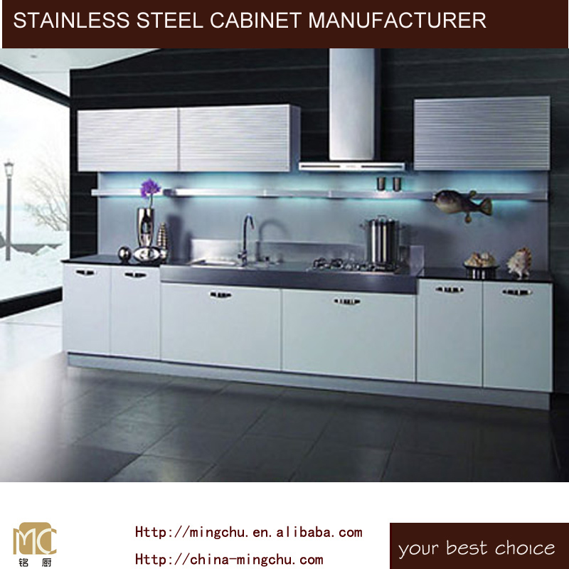 Luxury Stainless Steel Kitchen Cabinet metal Customized Designs big discount Waterproof ss316 SS304 cupboard outdoor kitchen