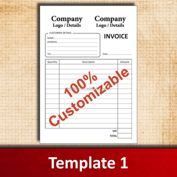 invoice books no carbon required ncr duplicate triplicate a4