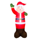 Mall center christmas decoration smiling face beckoning giant inflatable santa claus