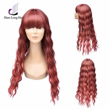 Synthetic fiber ombre lace front wig kanekalon flame retardant ombre lace wig