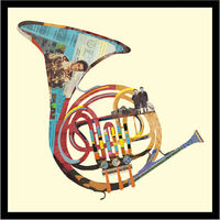 PA001 Horn Shape Old Photo Collage Art 3d Picture for Wall Decoration