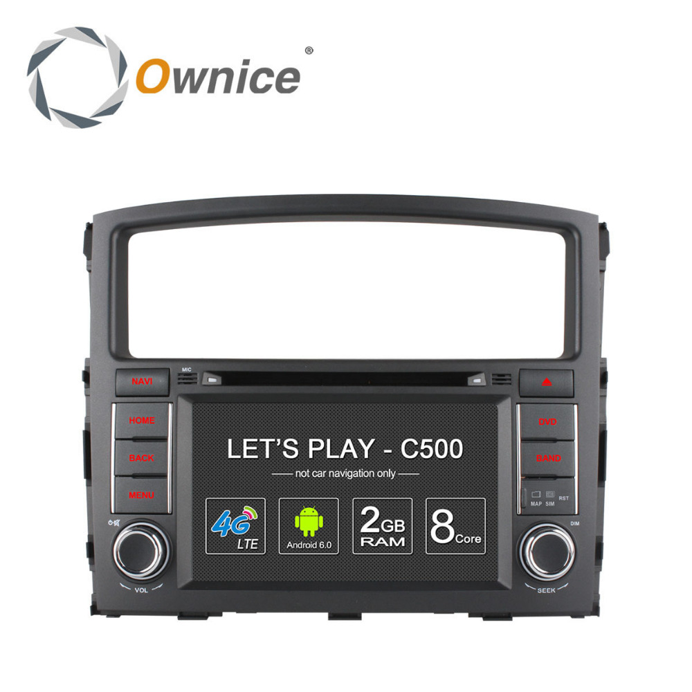 Octa core Android 6.0 Ownice C500 <strong>car</strong> navi radio for Pajero support OBD DAB TPMS Built in 4G LTE