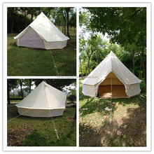 Bell Tent 5m Large Space Lotus Bell Tent Road Trip Outdoor Canvas Bell Tent for Sale