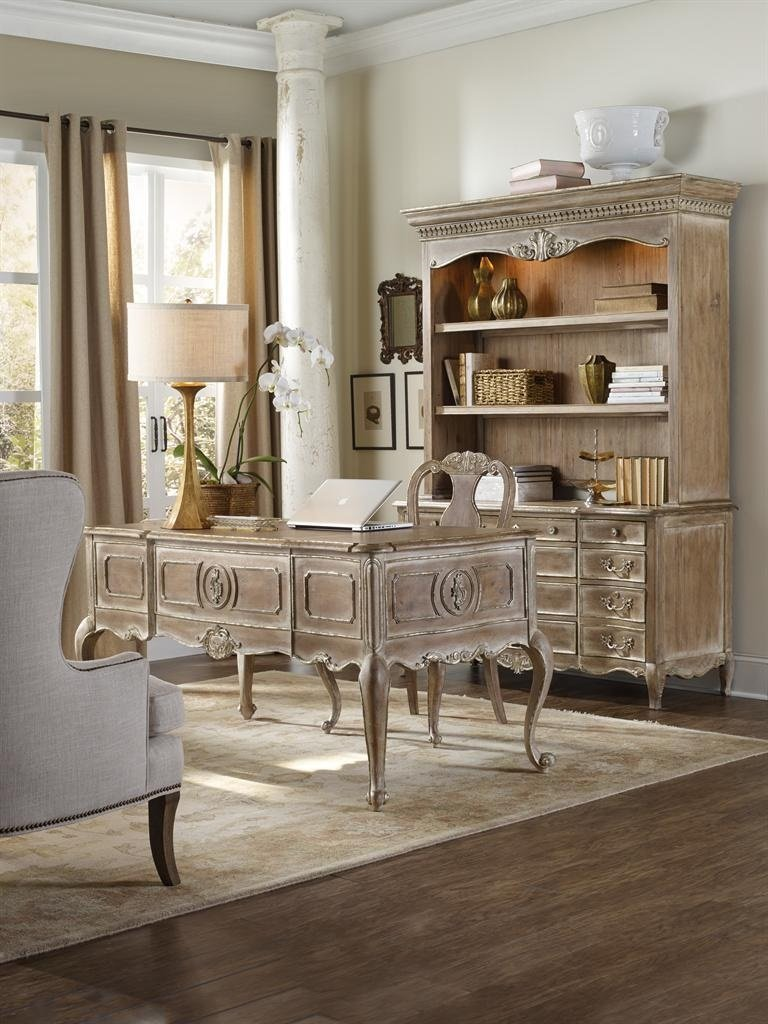 Hooker La Maison Office Furniture Set with Writing Desk, Credenza and Desk Chair