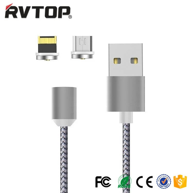 Wholesale low price Rvtop magnetic micro usb charging cable usb data cable for all phones