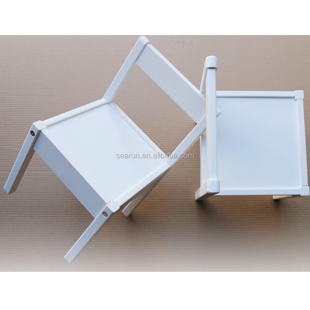 kinder tisch und st hle set wei holz kinder set mit einem tisch und 2 st hlen ideal f r. Black Bedroom Furniture Sets. Home Design Ideas