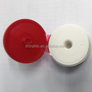 Custom Made Eco-friendly Cosmetics Flip Top Caps with Silicone Dispensing Control Membrane