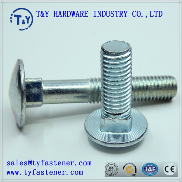 stainless steel carriage bolt/round head square neck bolt M4