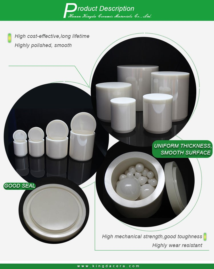 1 Litre zirconium oxide jars for nano powder grinding and milling