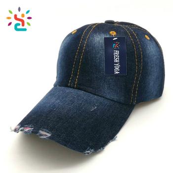 Vintage jean 6 panel hats on sale distressed Gradient color hats 100%  cotton Twill Denim ad081ff1bfc