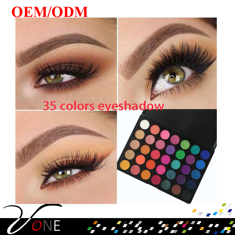 Professional makeup products eyeshadow palette private label 35 color eyeshadow palette qith long lasting and high pigment