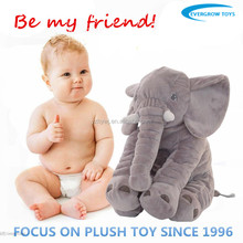 Stuffed animal shaped pillows cute grey color plush elephant pillow