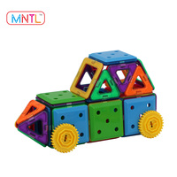 MNTL 46-Pieces Magnetic Construction Block Learning Toy Educational Large Toy Plastic Building Blocks for Kids
