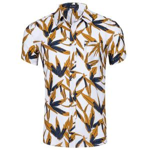 Men's Short Sleeve Floral Hawaiian Shirts Button Down Dress Cotton Aloha Shirt Hawaii youth beach shirts