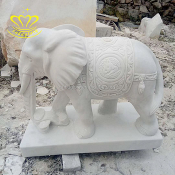 Hot Sale New Product Wholesale Shopping Marble Stone Sculpture Animal Elephant Statue