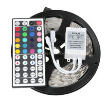 HOT! SETS 300 leds 5 M <span class=keywords><strong>5050</strong></span> RGB LED Strip Licht <span class=keywords><strong>SMD</strong></span> 12 V + IR 44key Controller