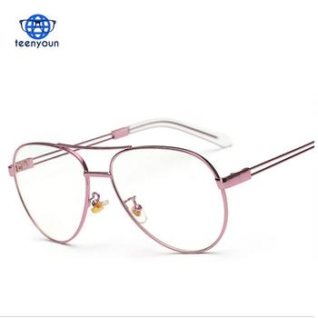 Brand Clear Lens D F-1003 Women Gold Eyewear Frame Men Eyeglasses ...