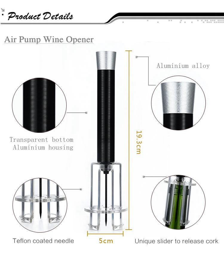 new design vacuum pump air pressure wine opener theory. Black Bedroom Furniture Sets. Home Design Ideas