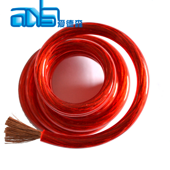 50FT 8GA 8AWG CCA Red Power Cable Wire Heat Resistance for Sound Car Audio AMP