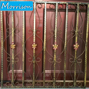Low Price Latest Wrought Iron Window and Door Grill Design