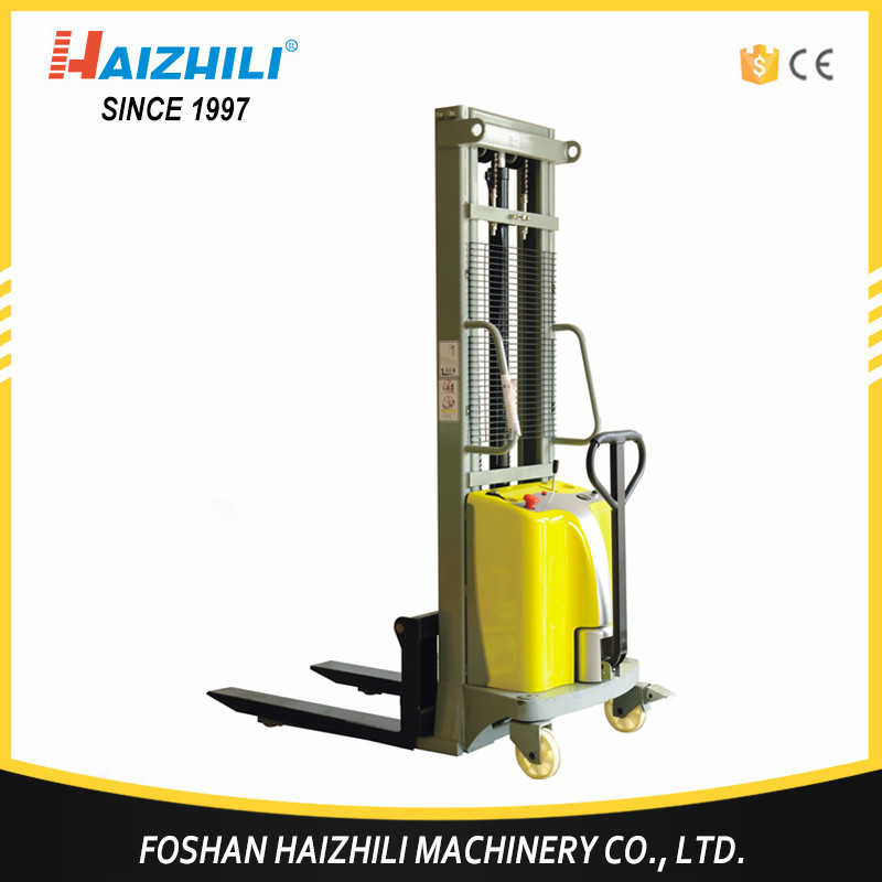 New design material handling tools semi-electric pallet stacker 1000kgs for sales