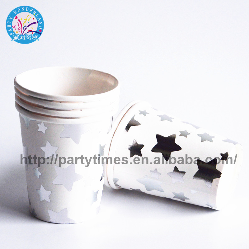 10pcs/lot gilding Gold wave party supplies paper cup baby shower theme festival kids girls boys cartoon birthday decoration