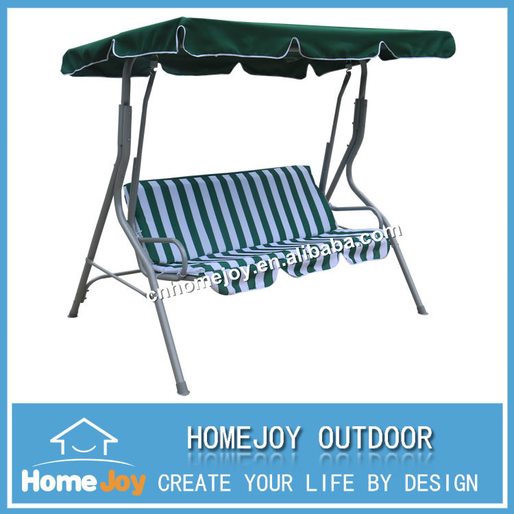 3 seater garden canopy swing, metal outdoor swing chair