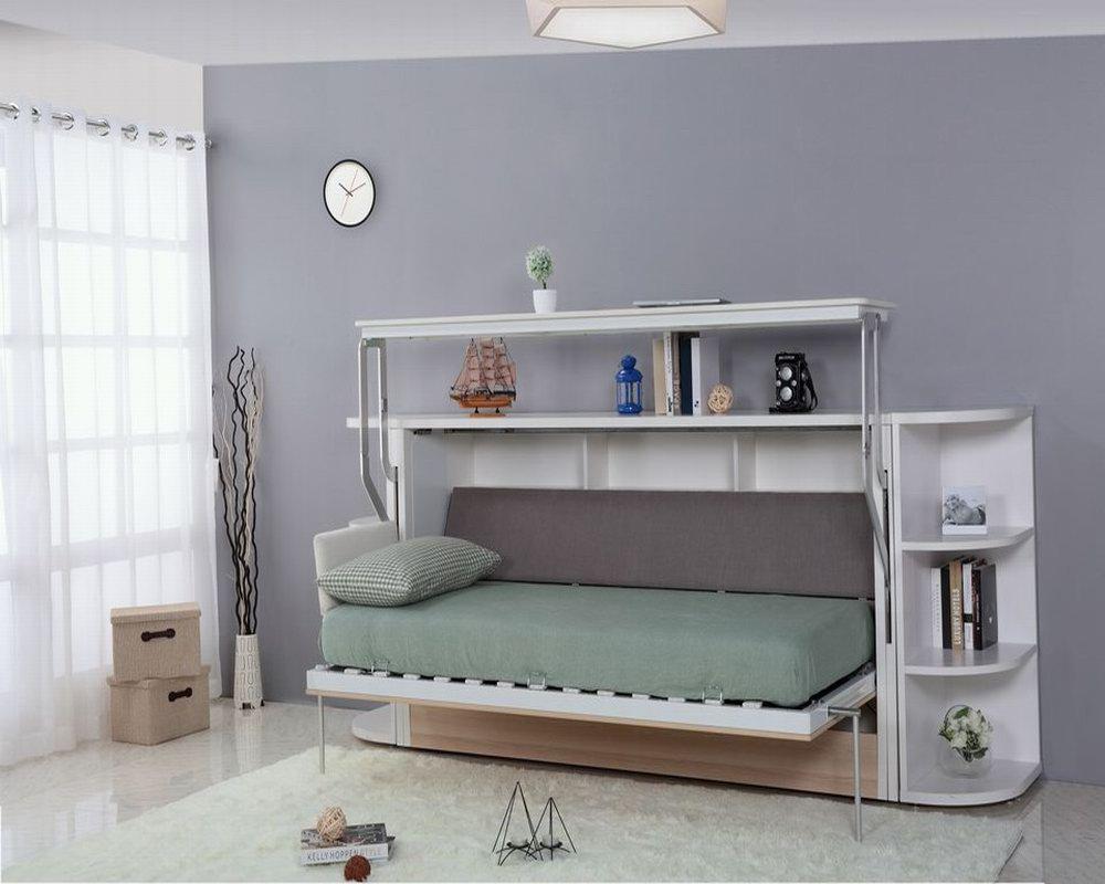 Moderne kinder klappbett design einwandige bett mit pull down ...