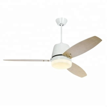 wood blades 52 inch dc motor AC ceiling fan with light and remote
