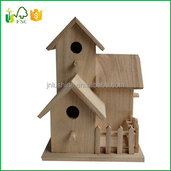 Birdhouse Wood Yard Garden Patio Outdoor Birds Nest Gift