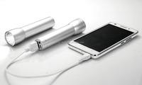 Aluminum torch colorful 2200ma Mini 1w led power bank flashlight