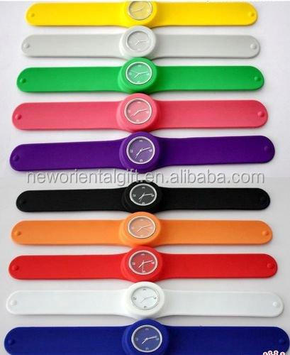 customized silicone wrist slap watch