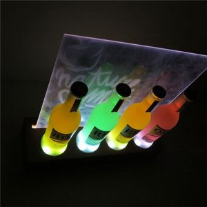 Good Quality Silk Screen Printing Acrylic Made Wine Bottle Glorifiers
