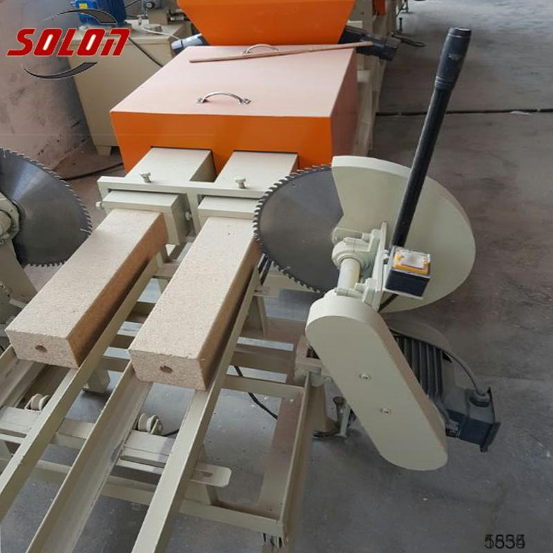 Wood Leftover Materials Recycle Machine euro pallet block machine wood block production line