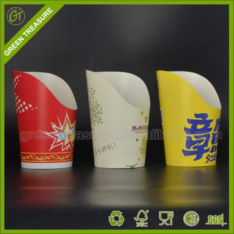 Take Away Logo Print Recyclable Potato Chips Paper cup For Sale