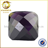 octagon shape amethyst stone price rose cut flat bottom cubic zirconia, loose faceted gemstone wholesale