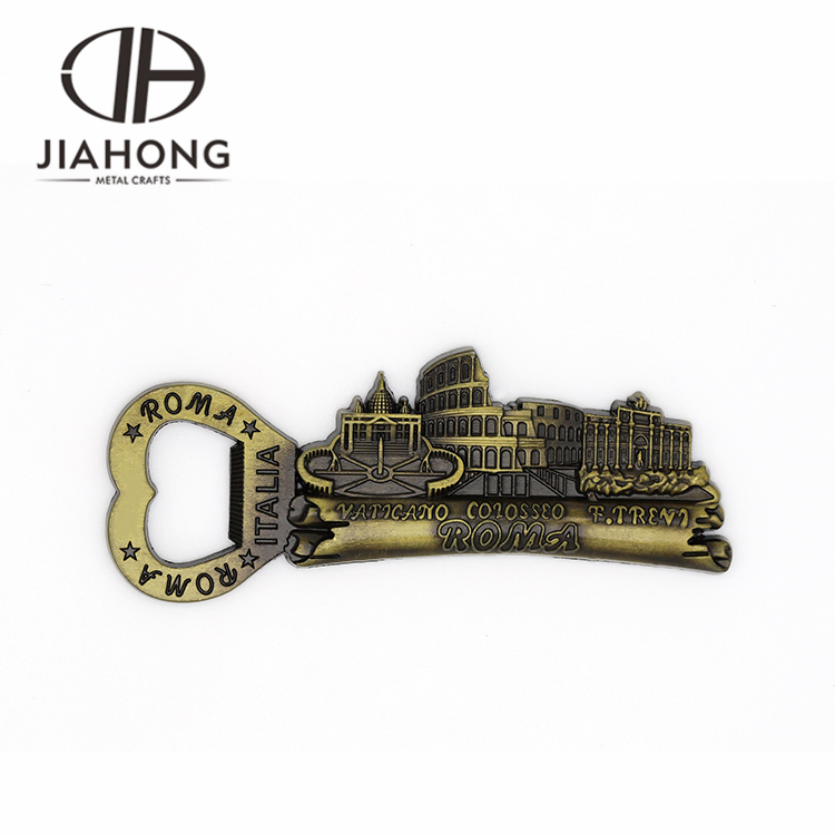 cheap bulk  zinc alloy flat souvenir beer bottle openers